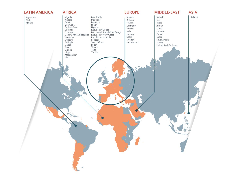 A large international presence | Juvise Pharmaceuticals