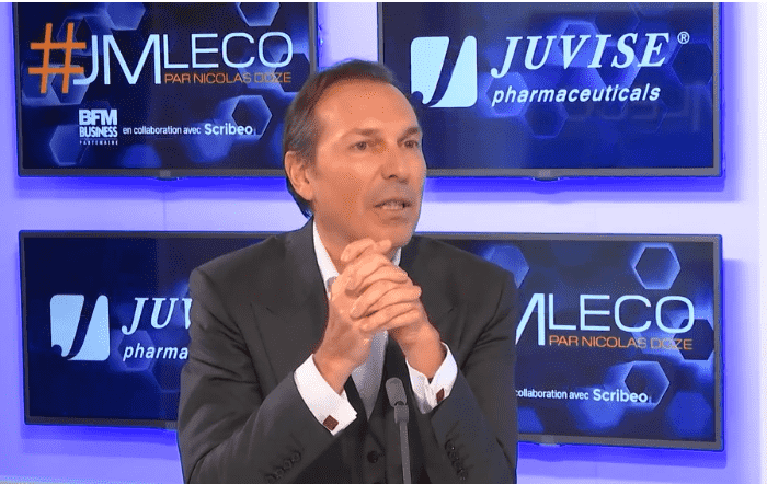Interview of Frédéric Mascha, Founder and President of Juvisé Pharmaceuticals, by the French economic journalist, Nicolas Doze, on BFM Business channel